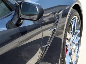 Exterior - Fenders & Flares - American Car Craft - American Car Craft Side Vent Grille Overlays Matrix Alumi-Steel 10pc 052009