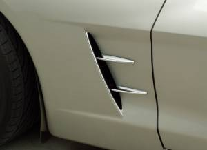 Exterior - Fenders & Flares - American Car Craft - American Car Craft Spears Chrome Retro Side 4pc 042116