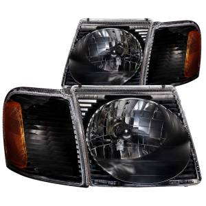 Lighting - Headlights - ANZO USA - ANZO USA Crystal Headlight Set 111041