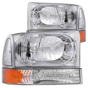 Lighting - Headlights - ANZO USA - ANZO USA Crystal Headlight Set 111081