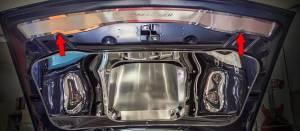 Hoods & Accessories - Hoods - American Car Craft - American Car Craft Hood Plate Upper ''Challenger'' Satin w/ Polished Trim 153111
