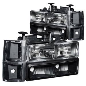 Lighting - Headlights - ANZO USA - ANZO USA Crystal Headlight Set 111100