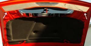 Hoods & Accessories - Hoods - American Car Craft - American Car Craft Hood Plate Brushed Satin HEMI Front 153003-B