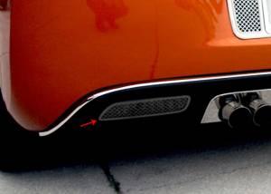 American Car Craft Reverse Light Covers Laser Mesh Black Stealth 2pc 042107