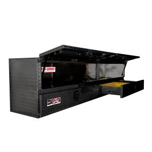 Bed Accessories - Tool Boxes - Westin - Westin Brute High Cap Stake Bed Contractor Box 80-TB400-96D-BD-B