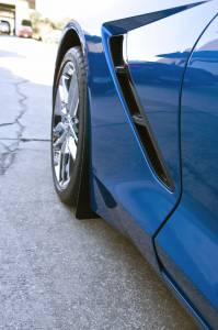 Exterior - Mud Flaps - American Car Craft - American Car Craft Mud Guards Carbon Fiber Wrapped 2pc REAR ONLY 052093