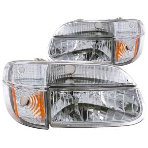 Lighting - Headlights - ANZO USA - ANZO USA Crystal Headlight Set 111040