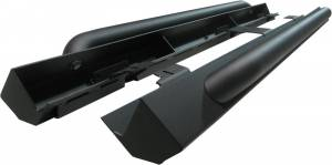 Exterior - Running Boards & Nerf Bars - MBRP Exhaust - MBRP Exhaust Rock Rail Kit (4 door); LineX Coated-2 boxes 130714LX