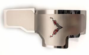 American Car Craft Alternator Cover Polished w/Satin Top Plate Crosse Flags CHOOSE COLOR 053091-BLU