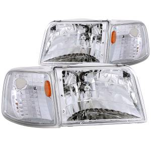 Lighting - Headlights - ANZO USA - ANZO USA Crystal Headlight Set 111119