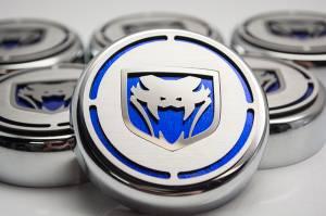 American Car Craft Cap Cover Set 5pc Fangs  CF Blue 983002-BLU