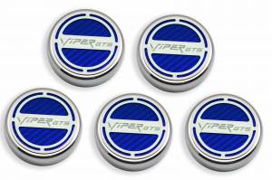 Performance - Ignition & Parts - American Car Craft - American Car Craft Cap Cover Set  5pc SRT 10 CF Blue 983004-BLU