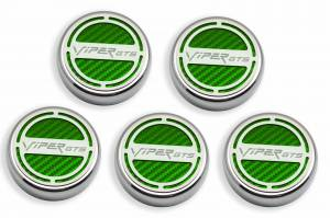 Performance - Ignition & Parts - American Car Craft - American Car Craft Cap Cover Set  5pc SRT 10 CF Green 983004-GRN