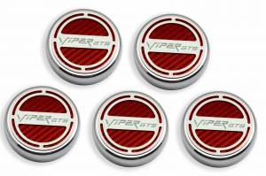 Performance - Ignition & Parts - American Car Craft - American Car Craft Cap Cover Set  5pc SRT 10 CF Red 983004-RD