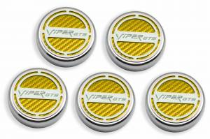 Performance - Ignition & Parts - American Car Craft - American Car Craft Cap Cover Set  5pc SRT 10 CF Yellow 983004-YLW