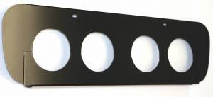 Exhaust Components - Upgrade Pipe - American Car Craft - American Car Craft Exhaust Filler Plate Powder Coated Black STOCK SYSTEM 052052