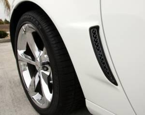 Exterior - Fenders & Flares - American Car Craft - American Car Craft Vent Grilles Laser Mesh Side 2pc Rear Z06 Black Stealth 042097