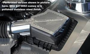 Air Intakes - Accessories - American Car Craft - American Car Craft Air Box Cover Stock Polished 2pc 273052