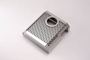 Brakes - Brake Components - American Car Craft - American Car Craft Master Cylinder Cover Perforated/Satin MANUAL 053066