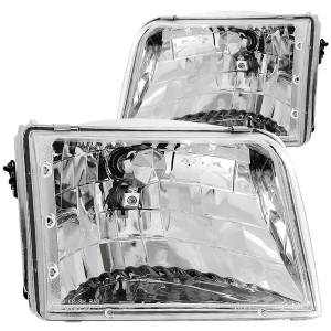Lighting - Headlights - ANZO USA - ANZO USA Crystal Headlight Set 111036