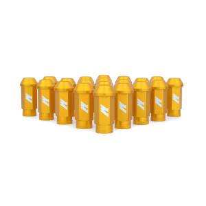 Wheels & Tires - Wheel & Tire Accessories - Mishimoto - FLDS Mishimoto Aluminum Competition Lug Nuts, M12 X 1.25 MMLG-125-GD