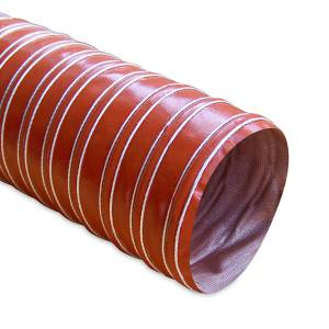 """FLDS Heat Resistant Silicone Ducting, 3"""" x 12' MMHOSE-D3"""