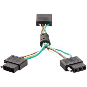 Towing - Accessories - ANZO USA - ANZO USA Dual 4-Wire Flat Adapter 851009