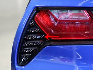 Bed Accessories - Truck Bed Accessories - American Car Craft - American Car Craft Taillight Grilles Laser Mesh 2pc 052005