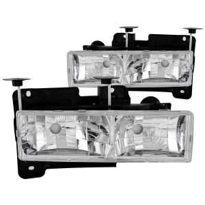 Lighting - Headlights - ANZO USA - ANZO USA Crystal Headlight Set 111136