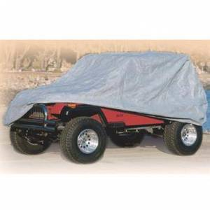 Apparel & Accessories - Misc. Accessories - Smittybilt - Smittybilt Complete Car Cover 07-18 Wrangler And Rubicon 4 DR Gray W/Storage Bag Smittybilt 835
