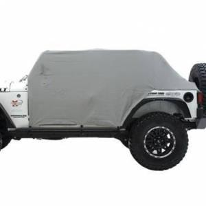 Smittybilt - Smittybilt Cab Cover W/Door Flap 07-18 Wrangler JK 4DR Grey Smittybilt 1069