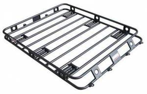 Exterior - Roof/Luggage Racks - Smittybilt - Smittybilt Defender Roof Rack Steel 4 X 2 X 4In Sides One Piece Welded Fits Rhino Smittybilt 40204