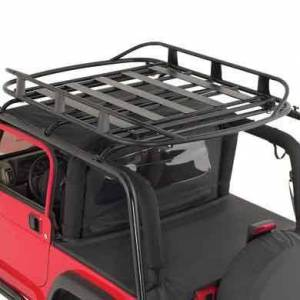 Exterior - Roof/Luggage Racks - Smittybilt - Smittybilt Rugged Rack Roof Basket 50 X 70  250 Lb Rating Black Smittybilt 17185
