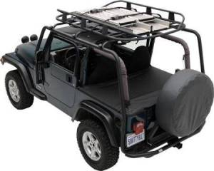 Exterior - Roof/Luggage Racks - Smittybilt - Smittybilt SRC Roof Rack 07-18 Wrangler JK 4 DR 300 Lb Rating Black Textured Smittybilt 76717