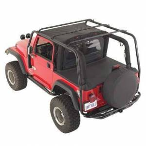 Exterior - Roof/Luggage Racks - Smittybilt - Smittybilt SRC Roof Rack 97-06 Wrangler TJ 300 Lb Rating Black Textured Smittybilt 76713