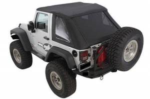 Smittybilt - Smittybilt Bowless Soft Top Combo 07-18 Wrangler JK 2 DR OEM Replacement W/Tinted Windows Black Diamond Smittybilt 9073235