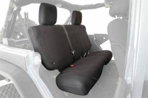 Interior - Seat Covers - Smittybilt - Smittybilt GEAR Seat Covers 07  13-18 Wrangler JK 4 DR Rear Custom Fit Black Smittybilt 56647901