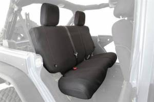 Interior - Seat Covers - Smittybilt - Smittybilt GEAR Seat Covers 97-02 Wrangler TJ Rear Custom Fit Black Smittybilt 56647101