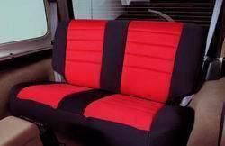 Interior - Seat Covers - Smittybilt - Smittybilt Neoprene Seat Cover 91-95 Wrangler YJ Set Front/Rear Red Smittybilt 471130