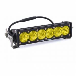 Products - Jeep - Baja Designs - Baja Designs 10 Inch LED Light Bar Amber Lens Wide Driving OnX6 Baja Designs 451014