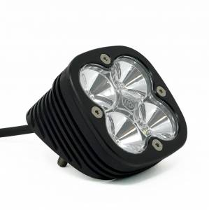 Baja Designs - Baja Designs Flush Mount LED Light Pod Angled Black Clear Lens Work/Scene Pattern Squadron Sport Baja Designs 552006
