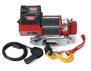 Winch & Recovery - Winches - Warn - Warn 12 Volt 9000 LB Cap 50 Ft Synthetic Rope Hawse Fairlead 71550