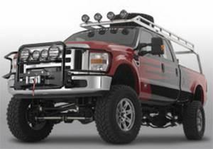 Warn - Warn Generation II Trans4mer Grille Guard Mounts 4 Lights Polished Stainless Steel 80148