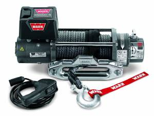 Winch & Recovery - Winches - Warn - Warn 12 Volt 8000 LB Cap 100 Ft Synthetic Rope 87800