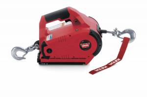 Winch & Recovery - Winches - Warn - Warn Portable Cordless 24 Volt DC 1000 LB Cap 15 Ft Wire Rope With 2 Batteries 885005