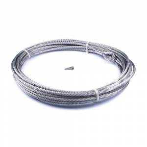Winch & Recovery - Winch Accessories - Warn - Warn For Warn Zeon-10 Winch 3/8 Inch Diameter x 80 Ft Length Galvanized Aircraft Wire 89213
