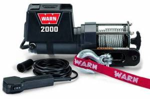 Winch & Recovery - Winches - Warn - Warn Trailer Winch 12 Volt 2000 LB Cap 35 Ft Wire Rope 92000