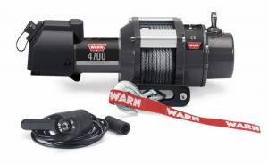 Winch & Recovery - Winches - Warn - Warn Trailer Winch 12 Volt 4700 LB Cap 60 Ft Wire Rope wired remote 94700