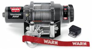 Winch & Recovery - Winches - Warn - Warn 12 Volt DC 3000 LB Cap 50 Ft Wire Rope Roller Fairlead 99388