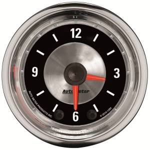 """Apparel & Accessories - Tools & Shop Equipment - AutoMeter - AutoMeter GAUGE, CLOCK, 2 1/16"""", 12HR, ANALOG, AMERICAN MUSCLE 1284"""